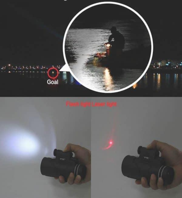 Smartphone zoom lens night vision long range laser