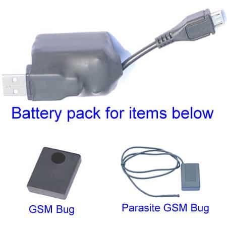 room bugging battery pack