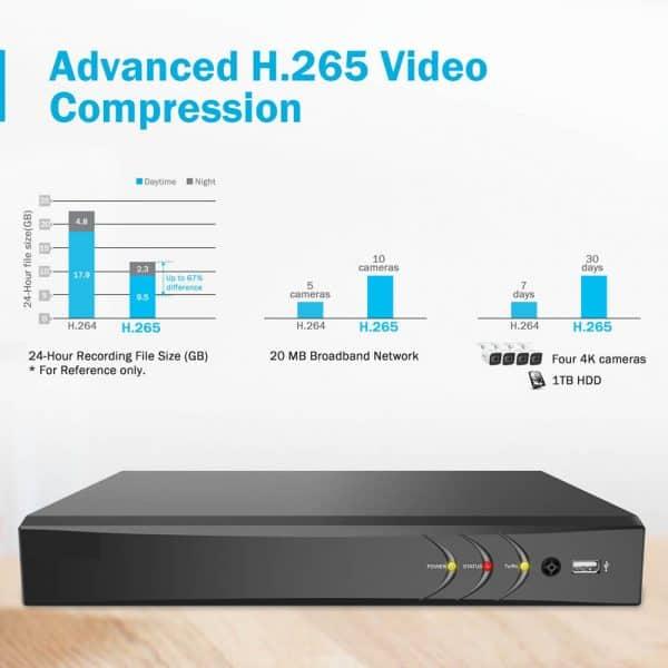 h.265 compression dvr