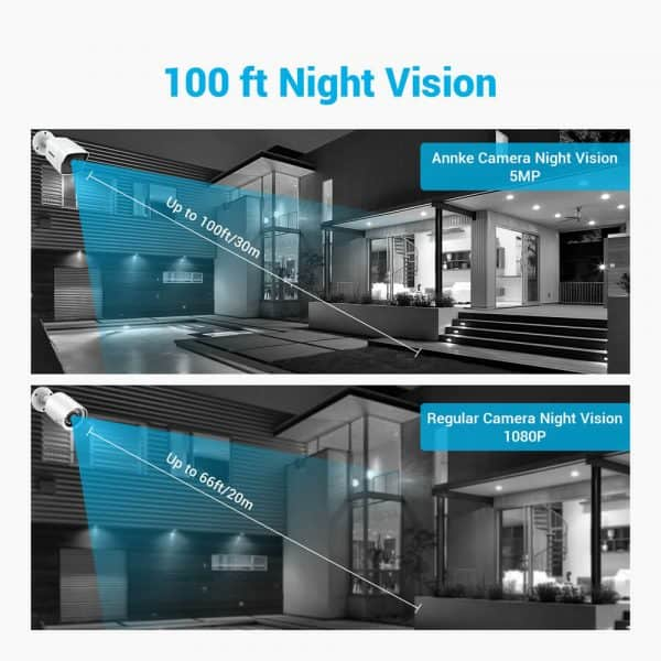 night vision comparison between 5 mega pixel and lesser camera resolution