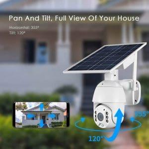 Solar power zoom ptz camera