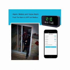 spy camera clock alarm